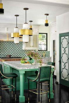 Modern Kitchen Lighting, Kitchen Lighting Fixtures, Dining Room Lighting, Light Fixtures, Modern Lamps, Küchen Design, Home Design, Layout Design, Interior Design