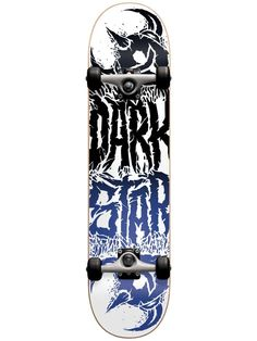 Darkstar Reverse Black/Blue 7.875 First Push Complete Skateboard