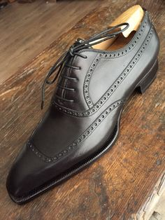 Freccia Bestetti / York U cup in black Calf.