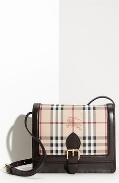 Burberry Check Print Crossbody Bag