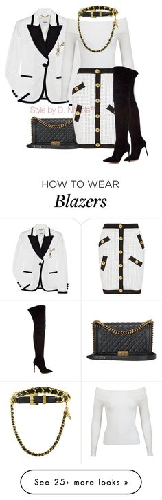 """""""Untitled #3021"""" by stylebydnicole on Polyvore featuring Chanel, Miss Selfridge, Boutique Moschino and Gianvito Rossi"""