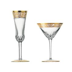 Hand painted Saint-Louis stemware in Gold Gold Glass, St Louis, Martini, Hardware, Crystals, Glasses, Tableware, Color, Sparkle