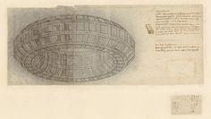 Leonardo Da Vinci, Codex Atlanticus, 710 recto b, mazzocchio, pen and ink, drilled for dusting; 375 x 154 mm. Milan, and Veneranda Biblioteca Ambrosiana