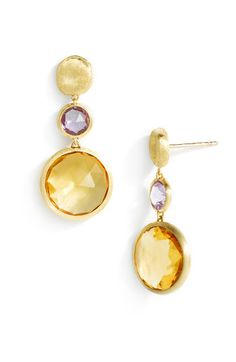 Marco Bicego 'Jaipur' Semiprecious Stone Drop Earrings