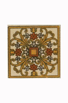 Ferrara Crystal Insert are hand decorated with classic Spanish, Portuguese and Moroccan designs. Own this tile which has blurywood