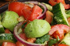 This Cucumber, Tomato, And Avocado Salad Is Super Fresh And Tasty