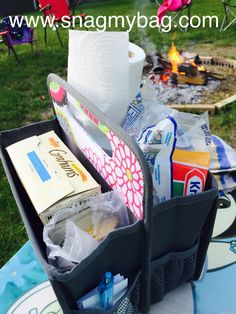 The perfect S'more station! Thirty One Baby, Thirty One Uses, Thirty One Gifts, Thirty One Organization, Camping Organization, Organization Ideas, Organizing, 31 Gifts, Baby Gifts