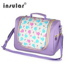 Insular Cartoon Print Diaper Bag for Mother Brand Multifunction Travel Bolsa Maternidade Portable Baby Stroller Bags #Affiliate