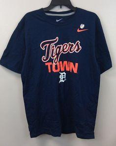 $24.99 Free Ship Detroit Tigers Nike T-shirt Tigers Town Large Navy Blue NEW MLB Tee #Nike #DetroitTigers #Tigers #MLB