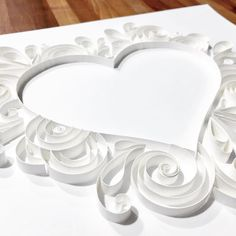 #whiteonwhite #paperquilling #quilling #heart #tiffanyjoy #elegant