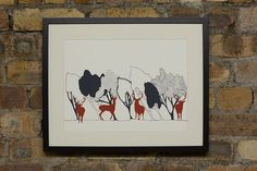 In The Woods Day theme with Stags original by OrwellandGoode, £30.00