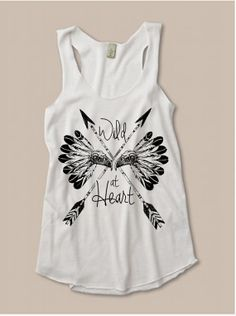 Womens Tribal WILD at HEART Boho Feather Arrow by FreeBirdCloth, $18.00