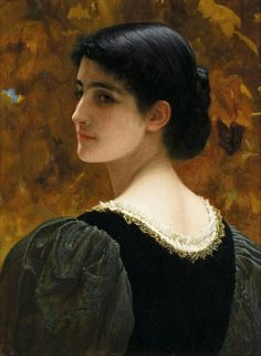 A Backward Glance,  Painting by Charles Edward Perugini,  Italian - British, 1839 - 1918