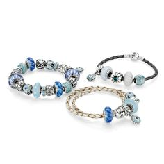 So many choices for Pandora bracelets and beads... leather, silver, oxidized and hundreds of beads!
