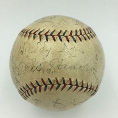 1927 Walter Johnson Tris Speaker Washington Senators Team Signed Baseball JSA >>> To view further for this item, visit the image link.