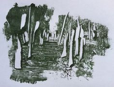 Walk in the park-monotype