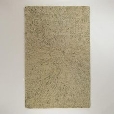 One of my favorite discoveries at WorldMarket.com: Feather Design Tufted and Hooked Wool Rug