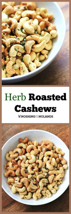 MWM - Herb Roasted Cashews by Noshing With The Nolands, are a great snack for gameday, parties and to give as presents!: MWM - Herb Roasted Cashews by Noshing With The Nolands, are a great snack for gameday, parties and to give as presents! Savory Snacks, Yummy Snacks, Healthy Snacks, Healthy Eating, Healthy Recipes, Easy Snacks, Best Appetizers, Appetizer Recipes, Nut Recipes