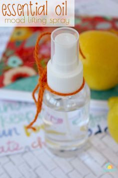 Feel more alert and more positive with this easy Essential Oil Mood Lifting Spray. Boost your spirits with just a few spritzes!