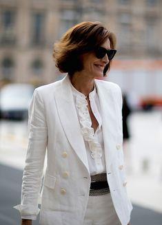 Inès de la Fressange. Paris Couture Fashion Week, Fall 2017.