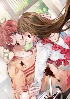 Anime Couples Mystic Messenger- Mc x Choi Saeran (Unknown) M Anime, Anime Kawaii, Anime Love, Mystic Messenger Fanart, Mystic Messenger Comic, Manga Font, Saeran Choi, Otaku, Anime Lindo