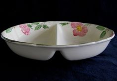 Franciscan Desert Rose Divided Vegetable Bowl in Mint, Unused Condition. $10.95, via Etsy.