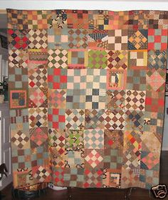 ANTIQUE SAMPLE QUILT ~ PENNSYLVANIA ~ 1870'S
