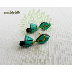 Small Terracotta Colorful Stud Jhumkis : Small 22 https://www.facebook.com/maitri.crafts https://www.facebook.com/maitricrafts.maitri maitri_crafts@yahoo.com