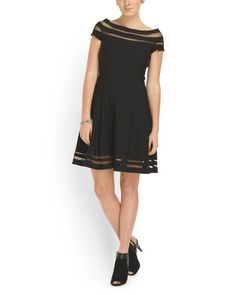 Fit And Flare Illusion Dress