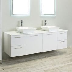 Eviva Luxury 72 in. Double Bathroom Vanity Set - EVVN823-72WH