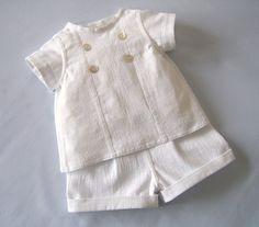 Boys+Christening+Suit+in+White+Linenlook+by+ClassicBabyWhites,+$75.00