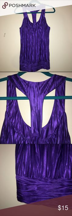 BCX satin banded tank perfect for a GNO, or pair with a blazer for work! this royal purple stain tank is versatile and flattering! racerback with elastic for a perfect fit, banded bottom for an attractive waist band! BCX Tops Tank Tops