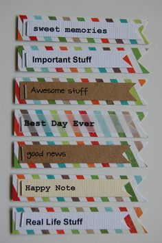 Journal Card Embellishment/ Project Life Embellishments