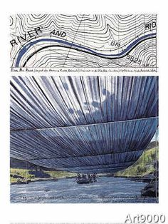 Christo und Jeanne-Claude - Over The River IX, Project for Arkansas River