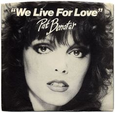 """April 1980 - Pat Benatar debuted at No. 88 on the Billboard Hot 100 Chart with her single, """"We Live For Love. Pat Benatar, Top 40 Hits, Rock Videos, Billboard Hot 100, Star Pictures, Greatest Songs, Figure It Out, Secret Life, Kinds Of Music"""