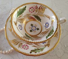 Royal Chelsea China Tea cup and Saucer Set from the 1940s