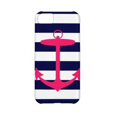 Pink Anchor Silhouette iPhone 5C Cases ($45) ❤ liked on Polyvore featuring accessories and tech accessories