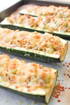I have a ton of zucchini and I needed to try something new - Roasted Zucchini Tuna Melts Fodmap Recipes, Gluten Free Recipes, Canned Tuna Healthy, Can Tuna Recipes Healthy, Canned Tuna Recipes, Healthy Snacks, Cooking Recipes, Tuna Casserole Healthy, Cooking Food
