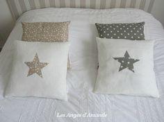 lin blanc-étoiles