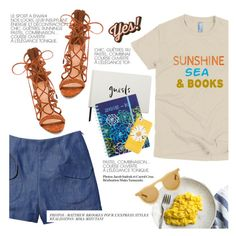 """sea, sunshine and books"" by bookandballads on Polyvore featuring Schutz, Kate Spade, Vera Bradley, Anja and Anya Hindmarch"