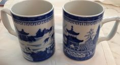 Blue Canton Mugs by Mottahedeh of Portugal