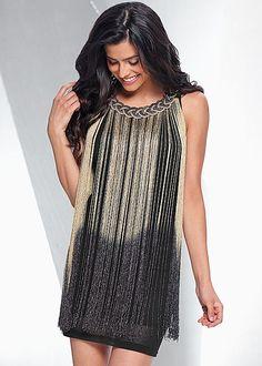 Dip dye fringe dress from VENUS. Sizes XS-XL!