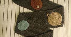 Solar system scarf [FO] : knitting