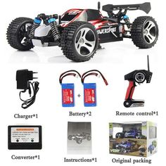 Wltoys A959 RC Car 4WD 2.4G High speed Remote Control Toys Off-Road RC Monster Truck Vehicle 45KM/H