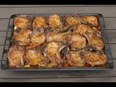 Jednostavni ručak za više ljudi - Sašina kuhinja - YouTube Bosnian Recipes, Cake Cookies, Food And Drink, Cooking Recipes, Yummy Food, Lunch, Meals, Chicken, Youtube