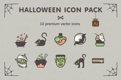 Check out Halloween Icon Pack! 10 vector icons by Difiz CreativeMarketplace on Creative Market