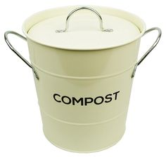 kitchen compost caddy food waste recycling bin retro style metal bucket grey food waste retro style and plastic buckets