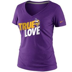 Nike Minnesota Vikings Ladies True Love Premium T-Shirt - Purple