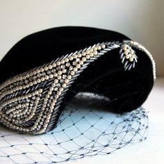 Vintage Felt Velour Cocktail Hat  by calloohcallay, via Flickr