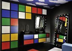 31 Multi-Color Tiled Bathroom Designs - DigsDigs